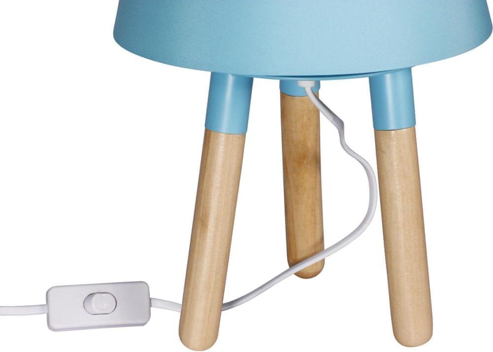 TimeLife Stolní lampa 30 cm, trojnožka, modrá