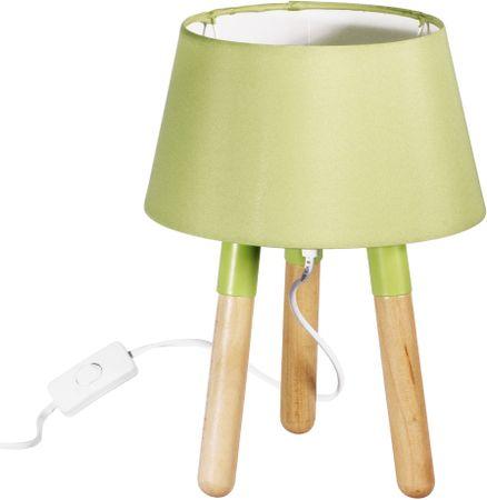 TimeLife lampa stołowa 30 cm, trzy nogi, zielona