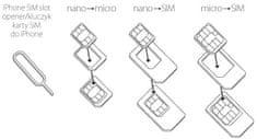 Forever SIM adaptér set (Micro SIM, Nano SIM) s aplikátorom