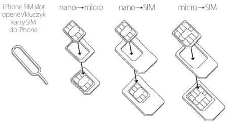 Forever SIM adaptér set (Micro SIM, Nano SIM) s aplikátorem