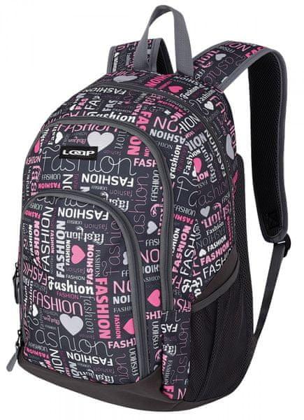 Loap školní batoh Orsy c.rock/pink