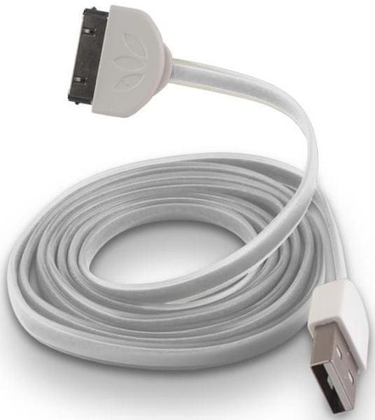 Forever Datový kabel pro Apple Iphone 4, silikonový, bílá