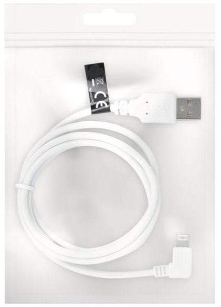 Forever Datový kabel pro Apple Iphone 5, bulk, nepřímý konektor, bílá