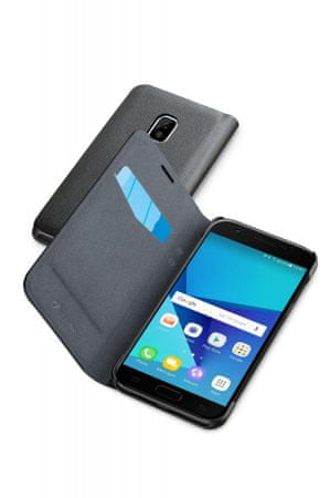 CellularLine preklopna torbica Book Essential za Samsung Galaxy J5 (2017), črna
