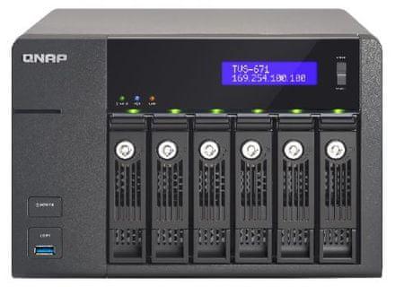 Qnap TVS-671-I3-4G NAS strežnik za 6 diskov