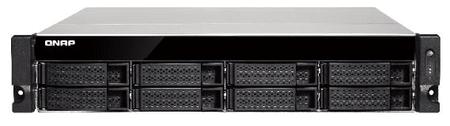 """Qnap NAS strežnik za 8 diskov TS-863U-RP, 2U 19"""" rack, redundatni napajalnik"""