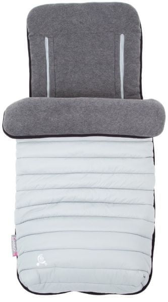 CuddleCo Fusak do kočárku Comfi-Snug 2v1, Pewter