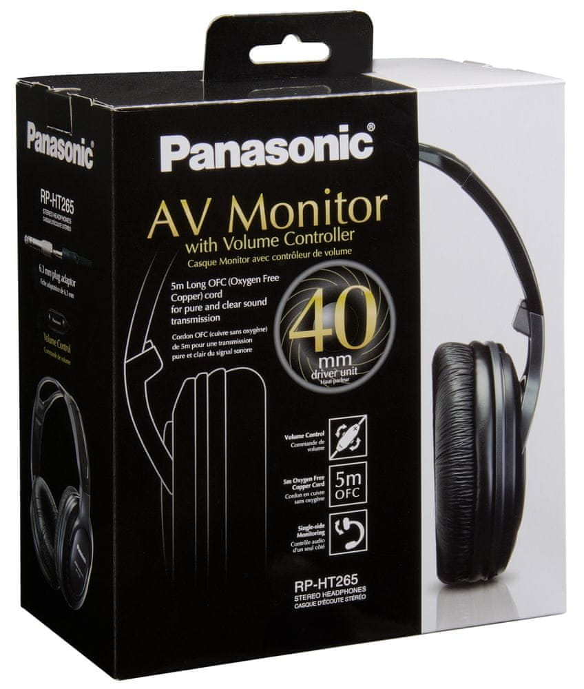 Panasonic RP-HT265E-K sluchátka