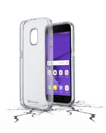 CellularLine prozoren ovitek iz plastike in robom iz gume Clear Duo za Samsung Galaxy J3 (2017) - odprta embalaža