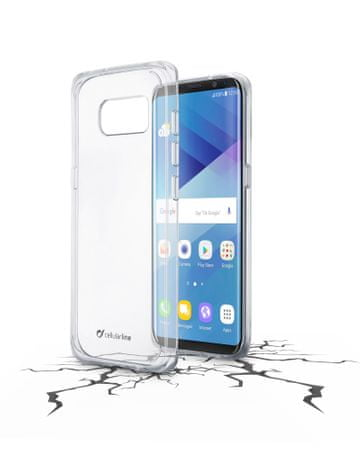 CellularLine prozoren ovitek iz plastike in robom iz gume Clear Duo za Samsung Galaxy S8