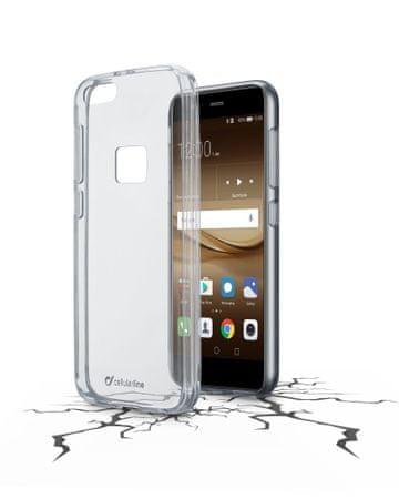CellularLine prozoren ovitek iz plastike in robom iz gume Clear Duo za Huawei P10 Lite