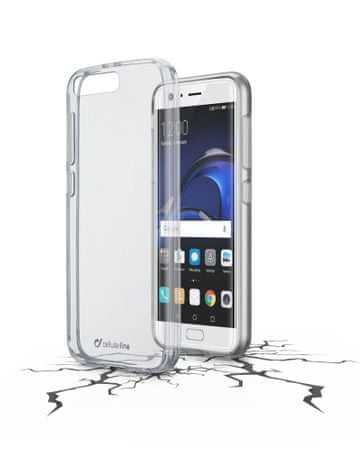 CellularLine prozoren ovitek iz plastike in robom iz gume Clear Duo za Huawei P10 Plus