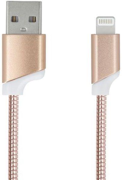 Forever Datový kabel pro Apple Iphone 5, metal růžová zlatá