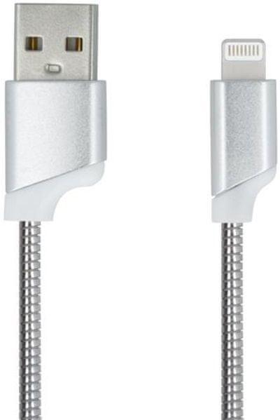 Forever Datový kabel pro Apple Iphone 5, metal stříbrná
