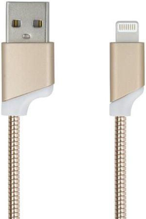 Forever Datový kabel pro Apple Iphone 5, metal zlatá