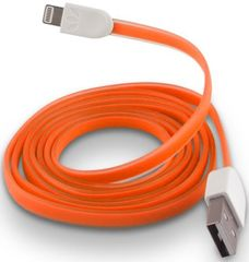 Forever Datový kabel pro Apple Iphone 5, silikonový, oranžová