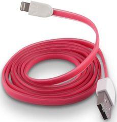 Forever Datový kabel pro Apple Iphone 5, silikonový, růžová