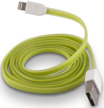 Forever Dátový kábel pre Apple Iphone 5, silikónový, zelená