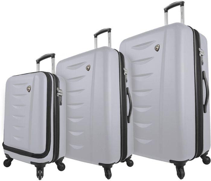 Mia Toro M1014/3 Sada cestovních kufrů, bílá