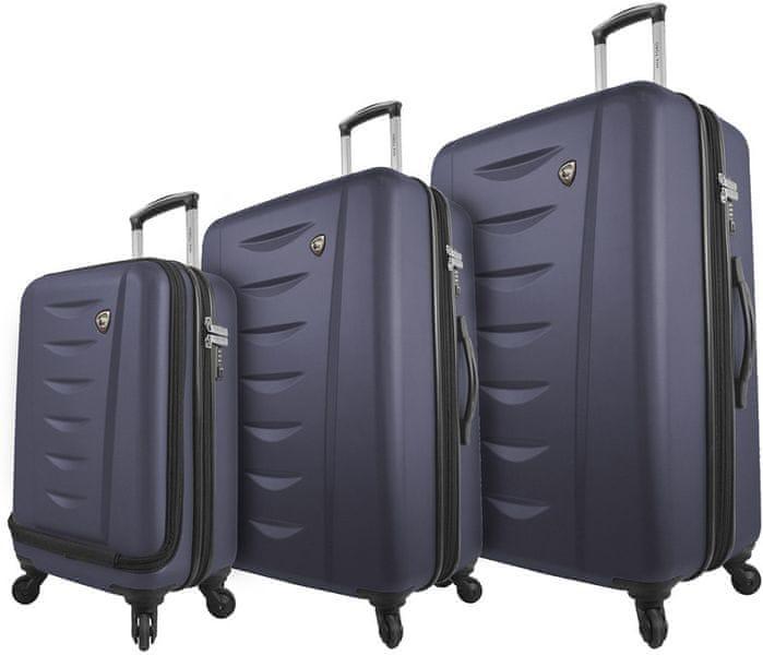 Mia Toro M1014/3 Sada cestovních kufrů, modrá
