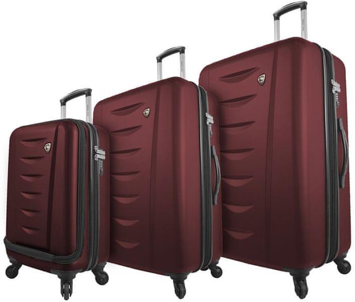 Mia Toro M1014/3 Sada cestovních kufrů, vínová