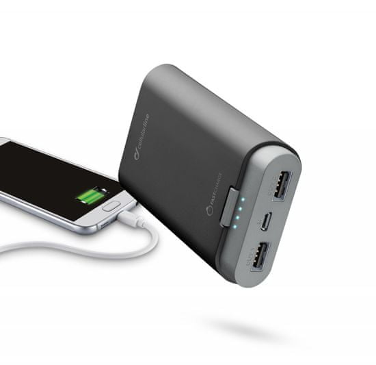 CellularLine prenosna baterija Freepower, 7800 mAh, črna