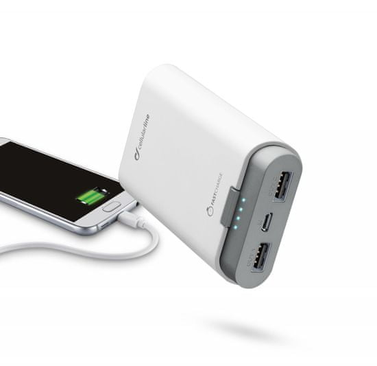 CellularLine prenosna baterija Freepower, 7800 mAh, bela