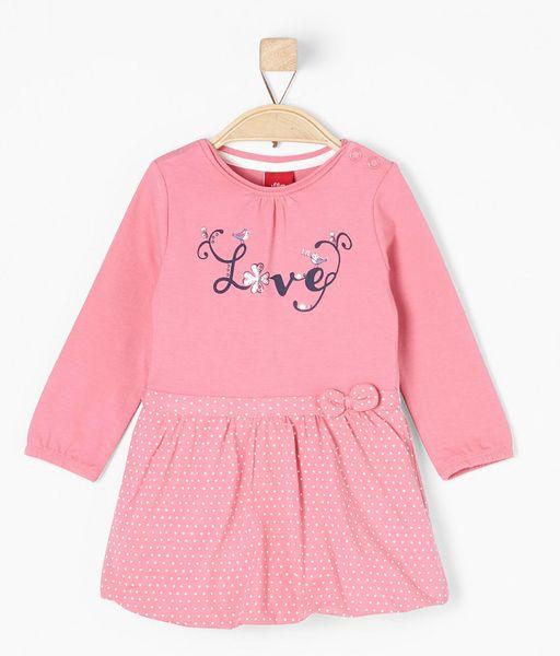 s.Oliver dívčí šaty 74 růžová