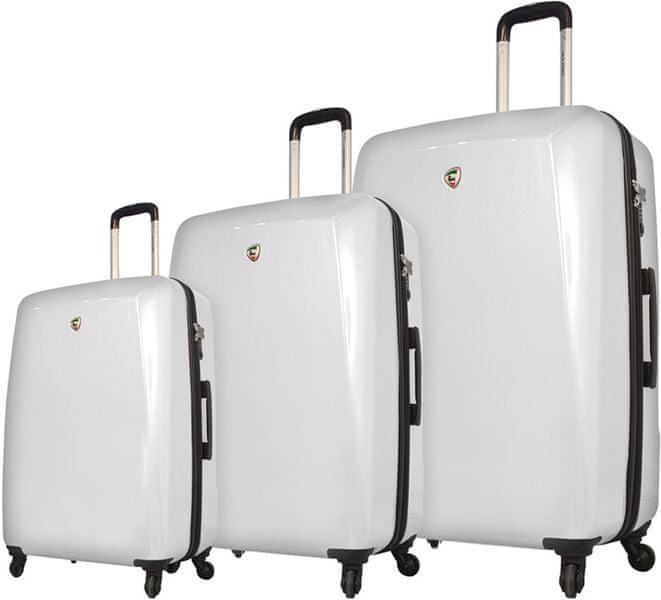 Mia Toro M1015/3 Sada cestovních kufrů bílá