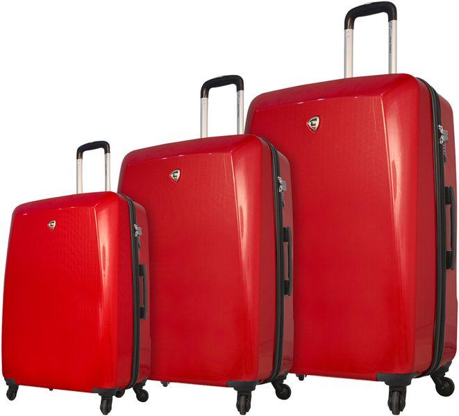 Mia Toro M1015/3 Sada cestovních kufrů červená
