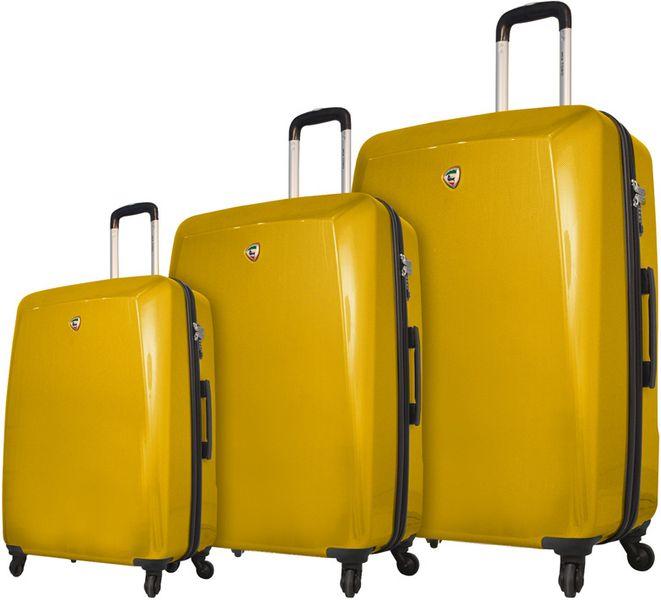 Mia Toro M1015/3 Sada cestovních kufrů žlutá