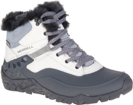 Merrell ženski zimski škornji Aurora 6 Ice Waterproof, belo-sivi, 38,5
