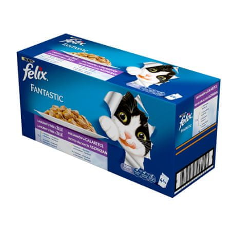 Felix hrana za mačke Fantastic paket, 44 x 100 g