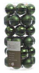 Kaemingk set različnih okraskov Mini Bunke steklene temno zeleni 36 kosov