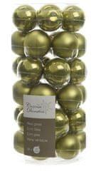 Kaemingk set različnih okraskov Mini Bunke steklene svetlo zeleni 36 kosov