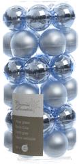 Kaemingk set različnih okraskov Mini Bunke steklene svetlo modre 36 kosov