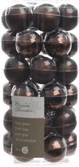 Kaemingk set različnih okraskov Mini Bunke steklene temno rjavi 36 kosov