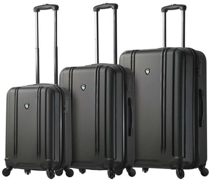 Mia Toro M1210/3 Sada cestovních kufrů černá