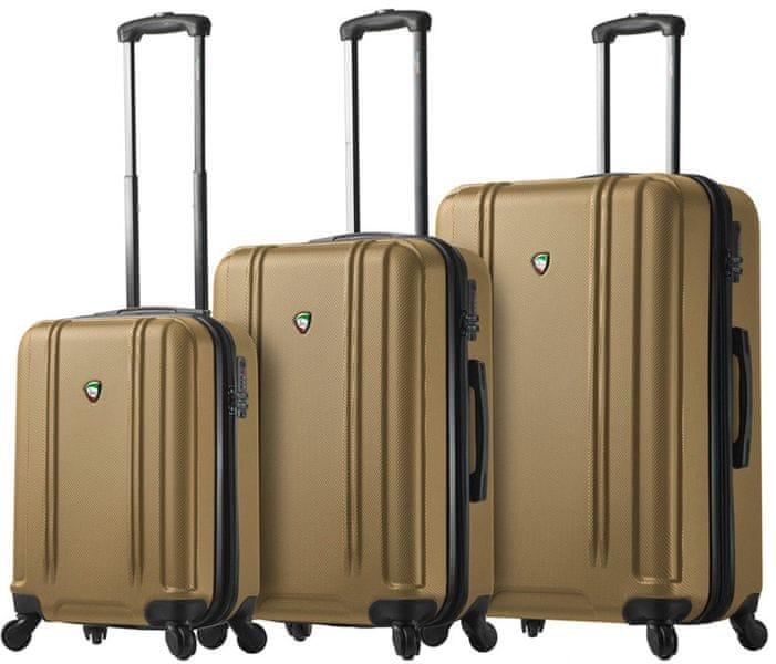 Mia Toro M1210/3 Sada cestovních kufrů zlatá