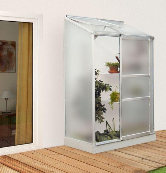 VITAVIA skleník VITAVIA IDA 900 matné sklo 4 mm stříbrný