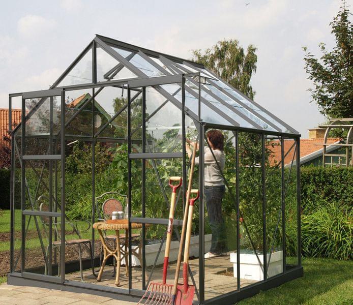 VITAVIA skleník VITAVIA URANUS 6700 čiré sklo 3 mm zelený