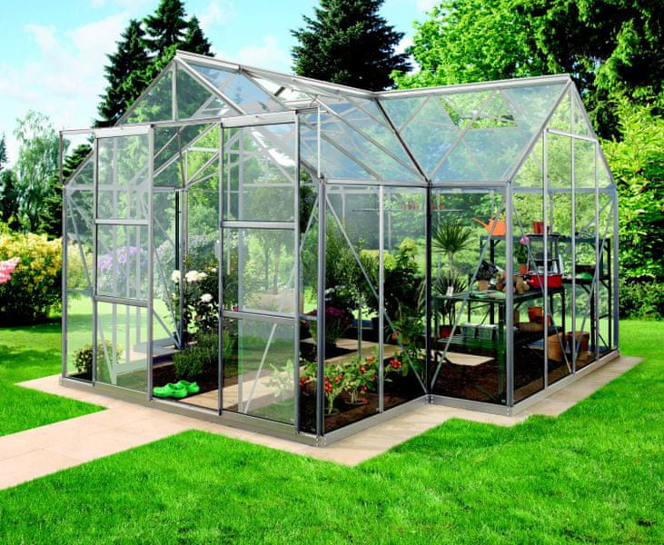 VITAVIA skleník VITAVIA SIRIUS čiré sklo 3 mm stříbrný