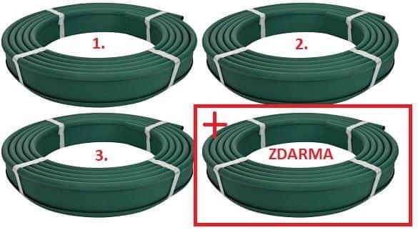 LanitPlast zahradní obrubník GARDEN DIAMOND 10 m zelený AKCE 3+1 ZDARMA