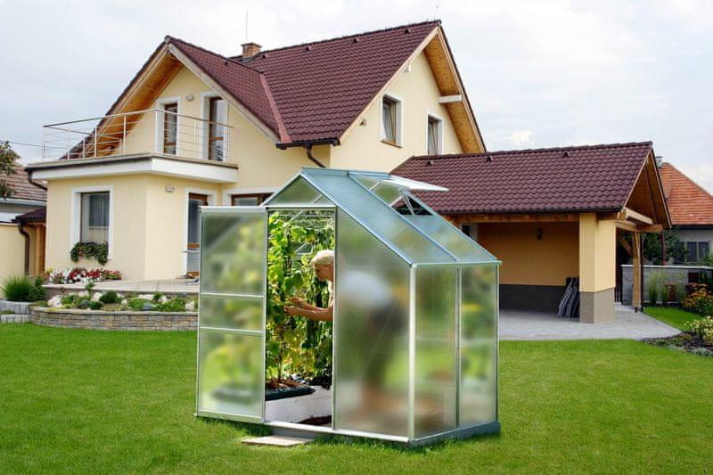 VITAVIA skleník VITAVIA VENUS 2500 matné sklo 4 mm stříbrný