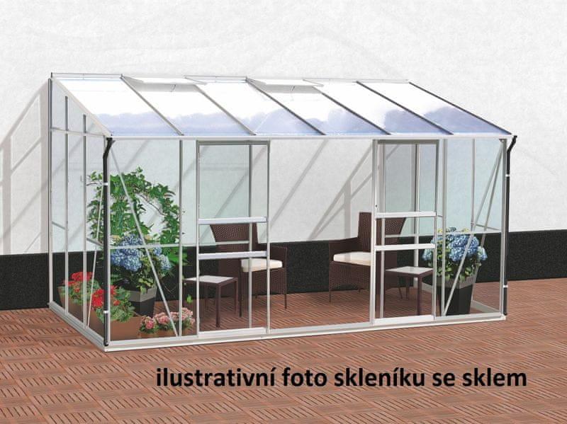 VITAVIA skleník VITAVIA IDA 7800 PC 6 mm stříbrný