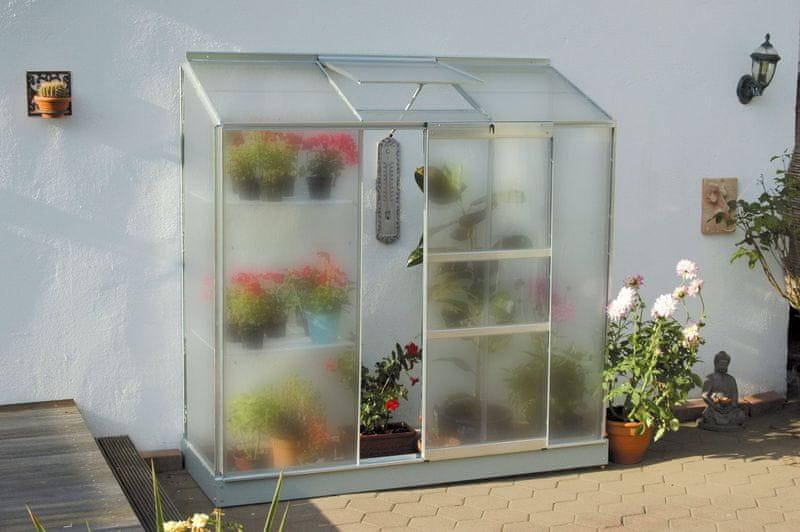 VITAVIA skleník VITAVIA IDA 1300 matné sklo 4 mm stříbrný
