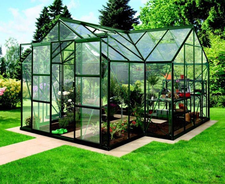 VITAVIA skleník VITAVIA SIRIUS čiré sklo 3 mm zelený