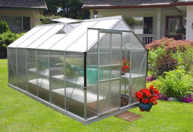 VITAVIA skleník VITAVIA TARGET 7500 PC 4 mm stříbrný