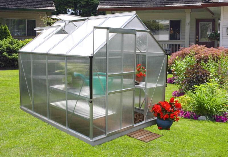 VITAVIA skleník VITAVIA TARGET 5000 PC 4 mm stříbrný
