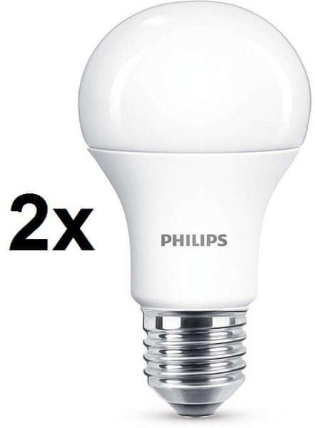 Philips CorePro LED žárovka 13-100W E27 teplá bílá, 2 ks